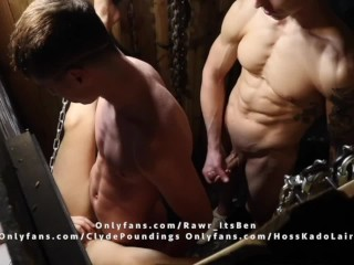 3 boys Fuck, eat ass, suck and cum in a glory hole in the Florida swamp.