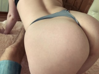 Fucked in the pussy beautiful wife and cum inside LeoKleo