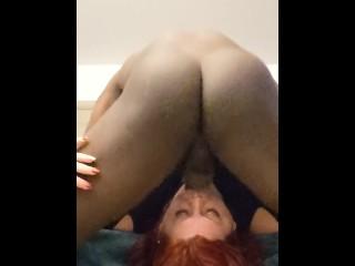 BBW porn star gets tea bagged by BBC