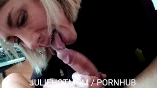 Caught jerking off, he fucks his stepmom in front of a porn. JULIEHOTMOM