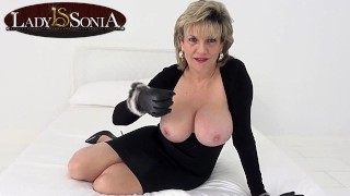 Lady Sonia wants you to wank while staring at her tits
