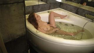 Screen Capture of Video Titled: Caught StepSister masturbating in the Jacuzzi! Anal sex with StepSister