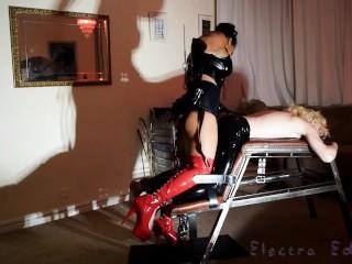 Ebony Mistress Pegging Him With Large Strap-on