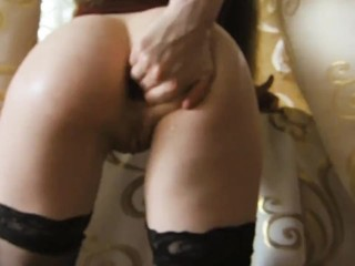 destroys the ass with a fist to a wet anal orgasm(full)