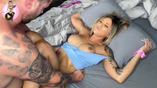 Wake her up and fill her with cum