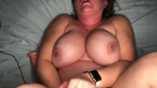 Horny sex starved MILF gets the attention she needs from the neighbor