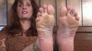 "Random Hot MILF gives up her Feet -- Brandy Dutch (5'11"", size 10)"