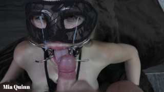facefuck gagging pissing with a open mouth gag - Mya Quinn