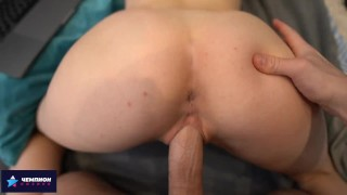 Step-sister asked for a massage and started sex
