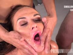 Premium Bukkake - Vinna Reed swallows 6...