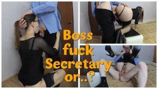 Secretary in Stockings Fucked by Her Boss in Full Nelson Position
