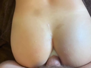 Submissive Asian slut gets her ass fucked and filled with cum – wmaf anal