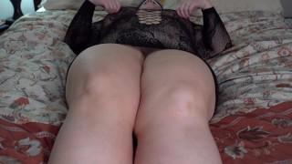 Curvy Mature BBW Rubs Clit To Orgasm