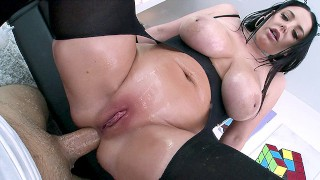 NYMPHO Stuffing all of Angela White's tight holes