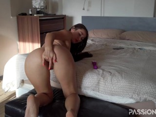 Perfect solo masturbation with toy for great pussy at home | HD