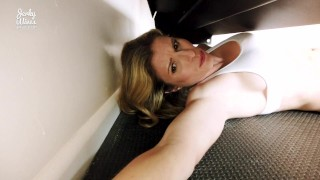 StepMom is Stuck and Fucked in her Ass at the Gym - Cory Chase