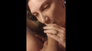 Cougar sucking and doggy finish