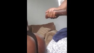 I love visiting my friend. He has such a fast black cock