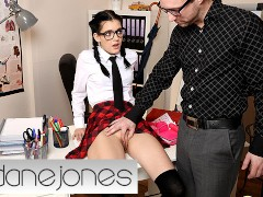 Dane Jones Teacher spanks and fucks naughty schoolgirl Anie Darling