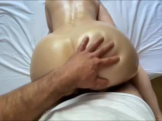 amateur stepmom gets cum on her oiled asshole – massage doggystyle pov asmr