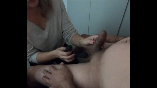 Tied him to chair and tested the new anal toy - prostate massager- MIN MOO