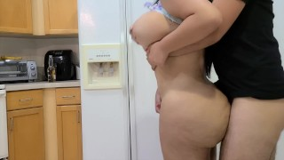 I fucked my Hot  Step Sister in the kitchen