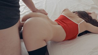 Rip off my pantyhose and fuck me! Naughty student girl sex - Diana Daniels