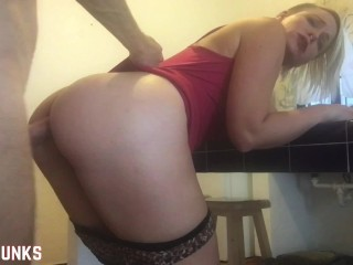 I Fuck Her Ass with No Warning: Anal Surprise While She Cleans The Kitchen