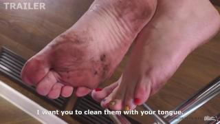 Femdom JOI Lick my dirty feet slave trailer