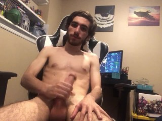 College boy cums for you in his room after a long day