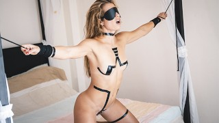 Tied Up Gets Slapped & Hard then Fucked Rough by her Master