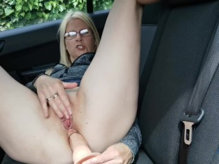 Fucking my pussy and ass in the car