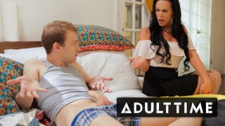 Caught Fapping - Stepmom Teaches Step-Son How to Fuck