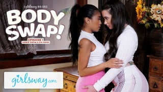 Screen Capture of Video Titled: GIRLSWAY Making Out With My Sister's Hot Girlfriend Gia Paige