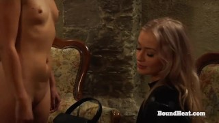 Young Lesbian Slave Sophie Receives Strapon As Birthday Present