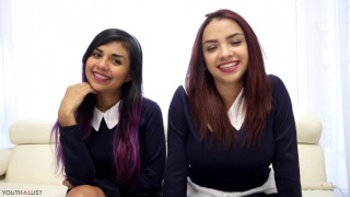 schoolgirls threesome sharing sperm youthlust – teen porn