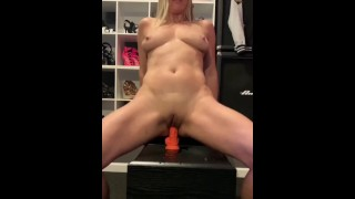 Brickbabe Rides Dildo In Her Own Mess!!