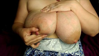 Massive Saggy Tits with Huge Areolas, Shaking My Huge Hangers