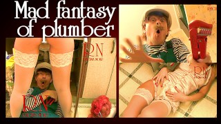 Plumber and maid. Crazy plumber'porno sexy daydreaming.