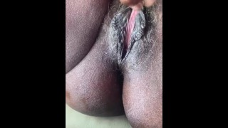 My fat pussy lips, he likes it hairy sometimes