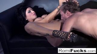 Sexy tease followed by hard sex with Hot Romi Rain!