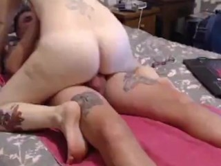 Mom gives handjob and riding