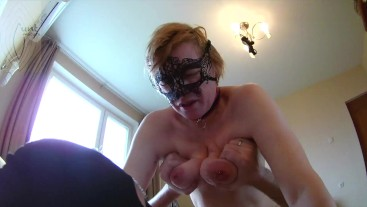 Submissive milf with saggy tits