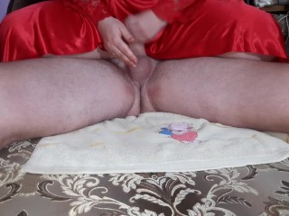 I like to masturbate with oil to my husband his big cock