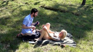 Fan request! Outdoor nude, fucking, pussylicking, cumshot in the forest