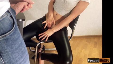 Between legs cum Cum On