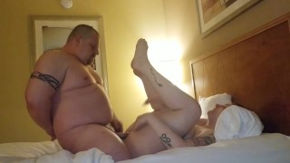 CHUBBY GUY POUNDS HIS SLUTWIFE MISSIONARY