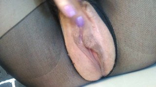 Russian MILF multiple orgasms live throbbing cunt. creampie squirt GinnaGg