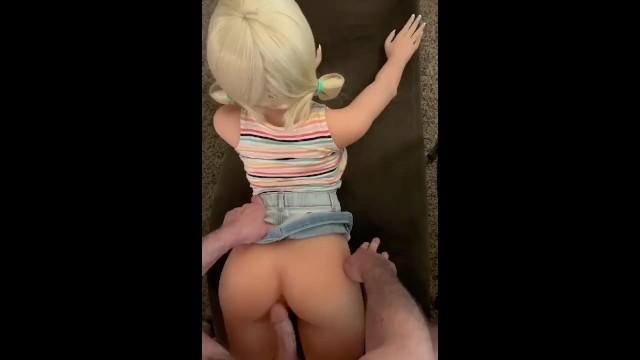 Hot Teen Sex Doll Fucked in Mini Skirt & Pigtails - Pornhub.com