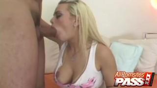 Big Tits Blonde Starla Sterling Blowjobs
